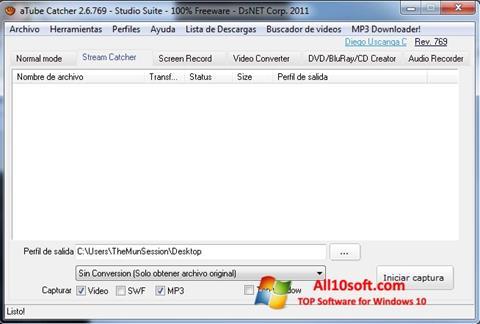 Captură de ecran aTube Catcher pentru Windows 10