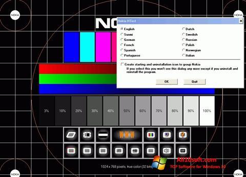 Captură de ecran Nokia Monitor Test pentru Windows 10