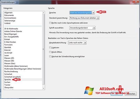 Captură de ecran Adobe Reader pentru Windows 10