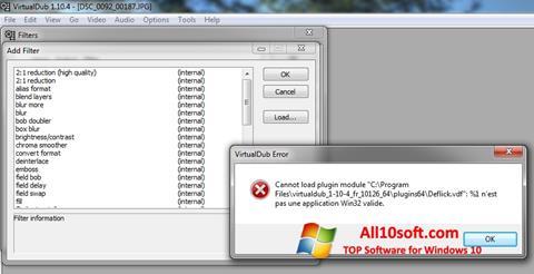Captură de ecran VirtualDub pentru Windows 10
